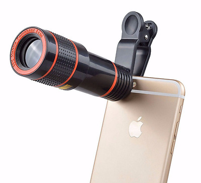 Optical Zoom HD Clip-on 12x  Telescope Camera Lens For  Mobile Phone Universal