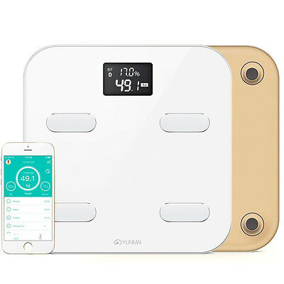 150kg Smart Digital Scales Electronic LCD Bathroom Weighing Scale Weight BMI Gym