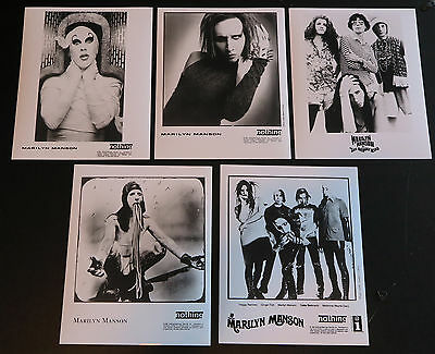 Marilyn Manson - Collection of publicity photos and rare backstage pass