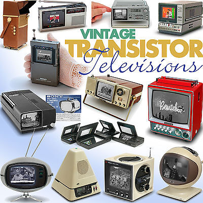 Vintage Transistor Televisions book Sony Philco Safari Sinclair Seiko TV Watch..