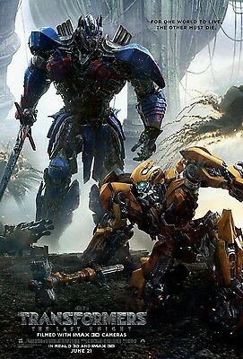 "TRANSFORMERS THE LAST KNIGHT 2017 Original Ver B DS 2 Sided 27X40"" Movie Poster"