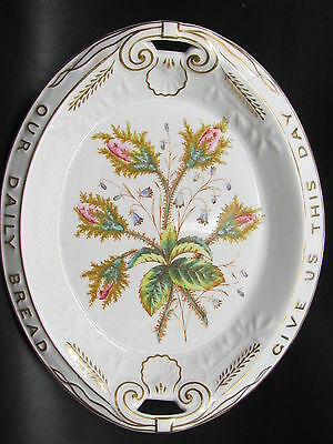 1880 Stubenville Pottery Co. Antique Aesthetic Pink Floral Transferware Platter