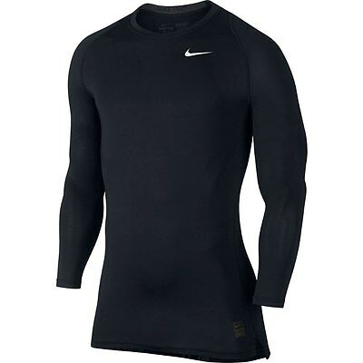 NWT Nike Pro Cool Compression Mens Long Sleeve Training Top Black size M XL