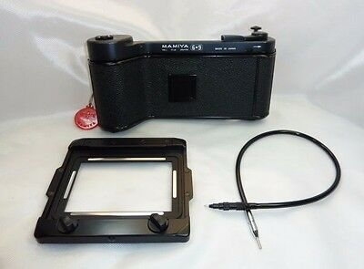 """""""Exc!!""""Mamiya Press 6x9 Film Holder / Model 3 """"Rare!!w/CableRelease"""" from Japan"""