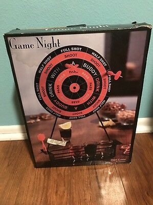 Game Night Dart Shots Drinking Game - A Must For Any Man Cave - Party Game - New