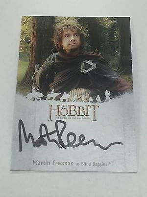 Hobbit Battle of Five Armies Martin Freeman as Bilbo Baggins Autograph Card # MF