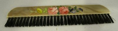 Antique Hand Painted Pink Rose & Pansy Celluloid Brush SHP