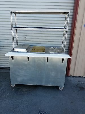 Steam Table 3 Pan LP Gas with Dual Overshelf
