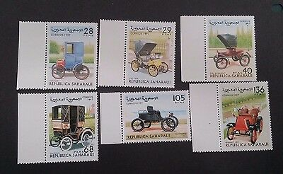 1997- REPUBLICA SAHARAUI Set of 6 x Vintage Cars MUH