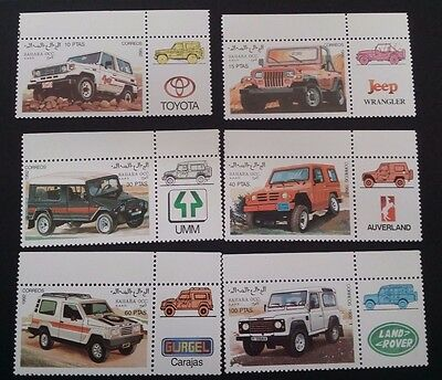 1992- Sahara OCC. R.A.S.D. Set of 6 x Four Wheel Drive Vehicles MUH