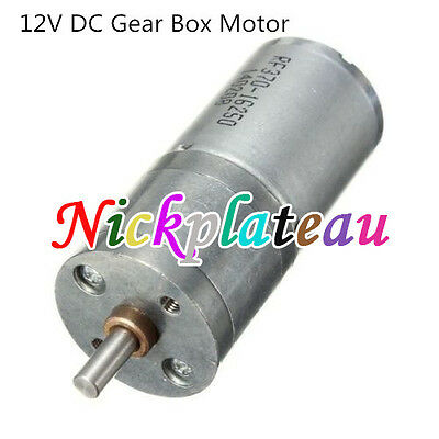 Motor Speed Reduction Gear Motor Electric 12V DC 60RPM Powerful Torque 25mm N