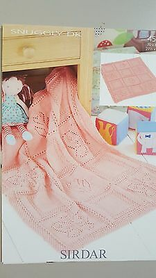Sirdar Knitting Pattern #4528 Baby Blanket to Knit in Snuggly DK