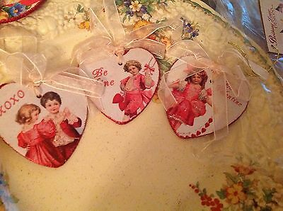Bethany Lowe Valentines Children Heart Ornaments