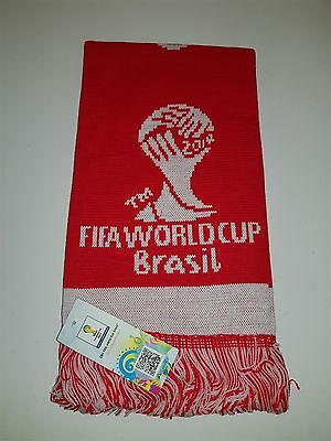 2014 Fifa World Cup Brazil Football Soccer Scarf Bnwt