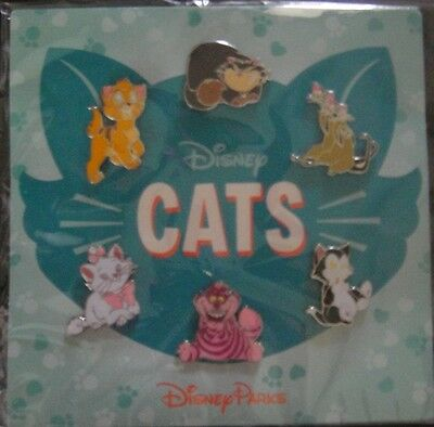 Disney Cats Booster Set - New on Themed Card - Pin # 110924