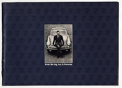Porsche brochure - history and design philosophy, 1989