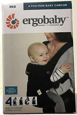 Ergobaby Four Position 360 Baby Carrier Ergo Pure Black BRAND NEW 2017 AUTHENTIC