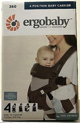 Ergobaby Four Position 360 Cool Air Infant Child Baby Carrier Ergo Carbon Grey