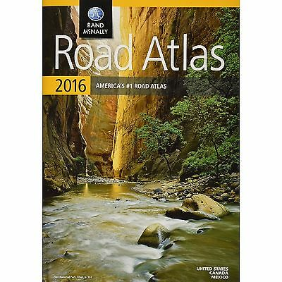 Mapquest Road Atlas Rand Mcnally Usa Canadian Mexico Map 2016 detailed trusted