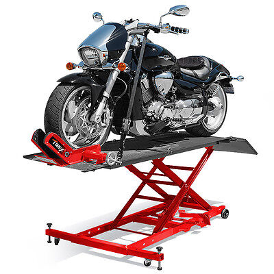 Motorcycle Lift Table Compressed Air Bike Stand Lifter Hoist Motorbike