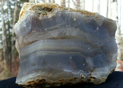 Blue Grey Chalcedony Agate Specimen Lapidary Rough Mineral Collecting Rocks