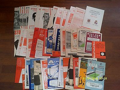 x49 - Stoke City EARLY 1960s Football Programme Collection / Job Lot