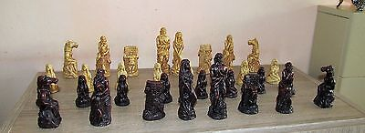 Super 32 piece Chess pieces, Roman / Greek Mythology. No chess board