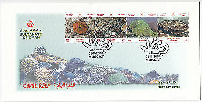 Y6095 Oman first day cover Coral reef 2004