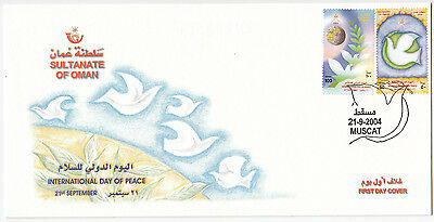 Y6094 Oman first day cover International day of peace 2004