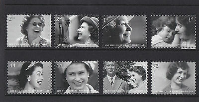 GB 2006  The Queen's 80th Birthday - Set of Single Stamps - Mint.