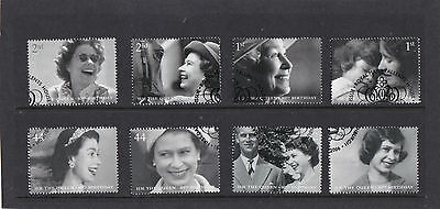 GB 2006  The Queen's 80th Birthday - Set of Single Stamps - Fine Used.