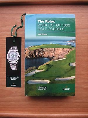 GOLF BOOKS:The Rolex WORLD'S TOP 1000 GOLF COURSES FIRST EDITION HARDBACK