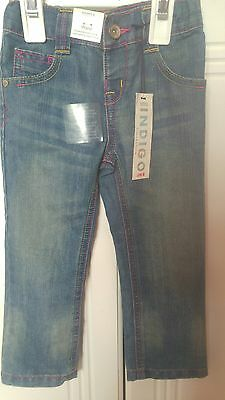 BNWT M&S Girls blue jeans 2-3 years
