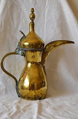 Vintage Heavy Brass Ewer/Pitcher with Crescent Spout