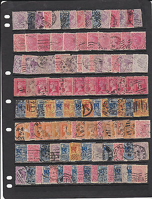 STAMPS..Australia..Victoria x 115 ,,Queens ,,all used.perfs...shades