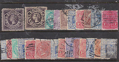 STAMPS..Australia..New South Wales, x 24 in used, 2x six pence/ shilling.etc
