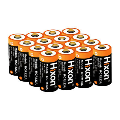 Protected 16340 Rechargeable Li-ion Battery RCR123A Arlo Camera 3.7V 20Batteries