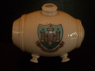 WH GOSS Crested China Model of Old Swiss Vinegar Bottle. Arms of Pontefract