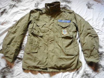 ORIGINAL US army AIR FORCE USAF M65 M 65 COAT jacket 1971 VIETNAM WAR OG107 M R