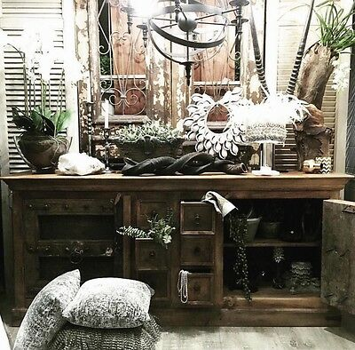 New Rustic Solid Timber Samsara Entertainment TV Unit Sideboard Cabinet