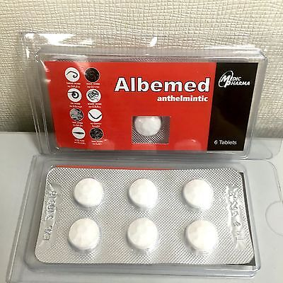 1 BOX (6 Tablets) ALBEMED ANTHELMIN ALL WORMS KILLING CLEANSE FOR HUMANS