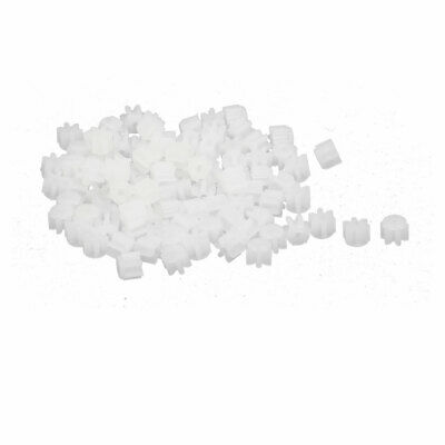 100PCS 6 Teeth 0.3mm Hole Diameter Plastic Front Gear Wheel for RC Toy Car