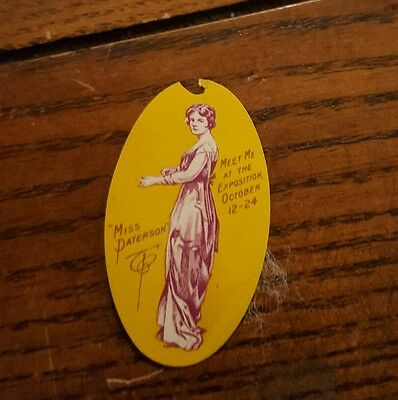 Dated 1905 Columbian Exposition Miss Paterson Pin