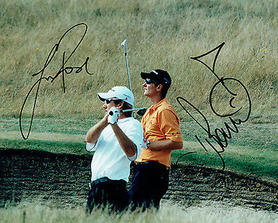 Ian POULTER & Justin ROSE Double SIGNED Golf Autograph 10x8 Photo 1 AFTAL COA