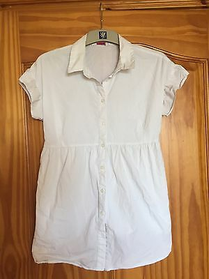 Maternity White Blouse Size 12