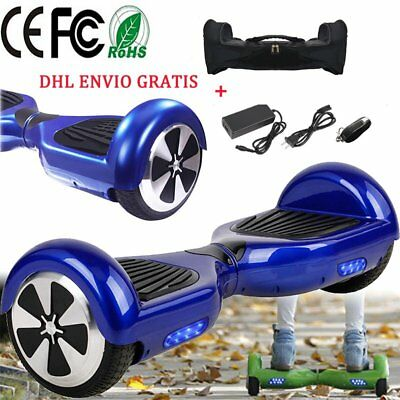"""6,5""""Scooter Eléctrico Patinete selfbalancing Monociclo overboard+Bolso+Mando FT"""