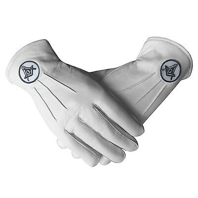 Masonic Regalia White Soft Leather Gloves quality masonic gloves