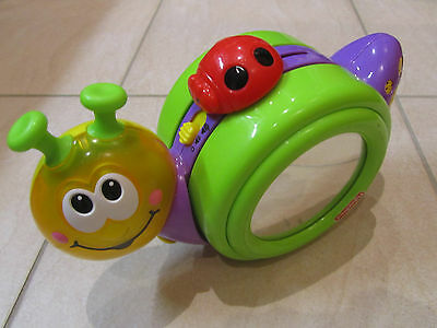 FISHER PRICE Go Baby Go! 1-2-3 Crawl Along Snail - Lights Sounds Music RRP $35