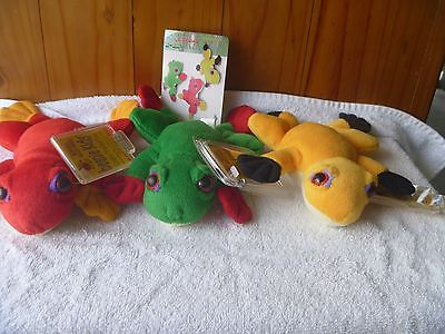 BEANIE KIDS RARE- The Full Frogs Set - BK008 - Excellent Beanies & 1st Gen.Tags.