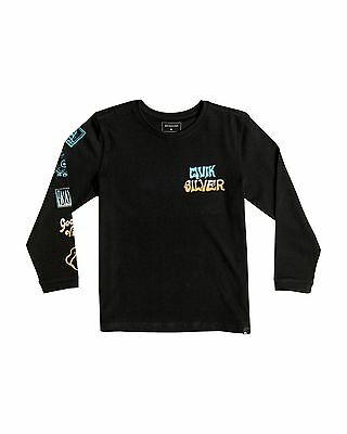 NEW QUIKSILVER™  Boys 2-7 Side Track Long Sleeve T Shirt Boys Children Tops